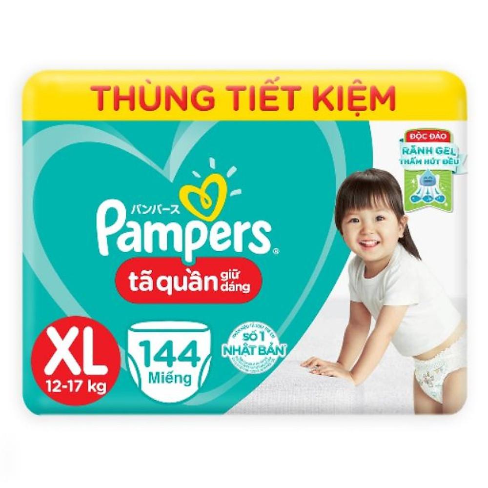 Review TÃ QUẦN PAMPERS MEGABOX XL144