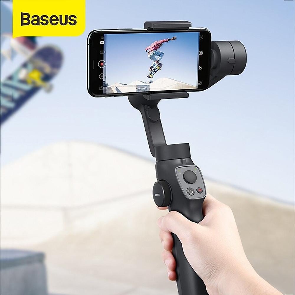 Review Tay cầm chống rung đa năng cho điện thoại Baseus Gimbal Stabilizer ( 3-Axis Handheld , w
