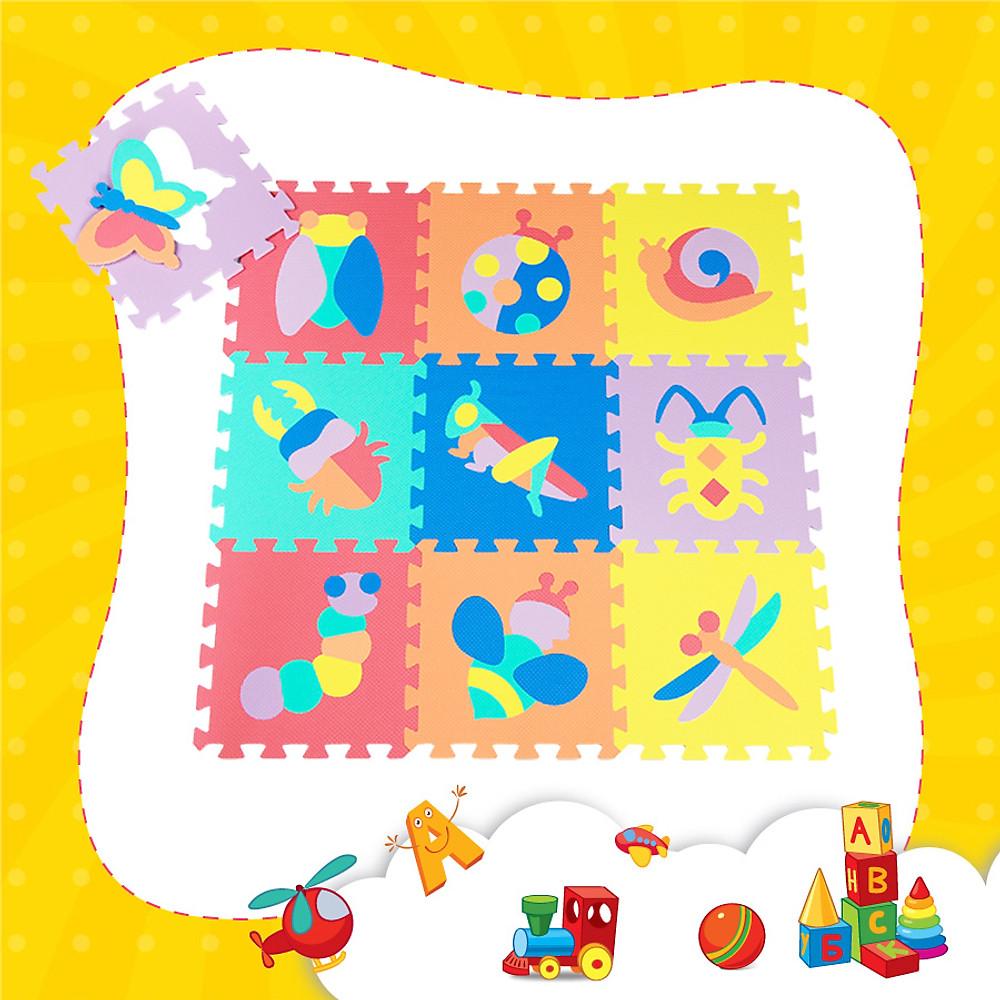Review Thảm xốp lót sàn cho bé - côn trùng (10 miếng, diện tích 1m2) Smile Puzzle_KHÔNG MÙI TIÊU CHUẨN CHÂU ÂU