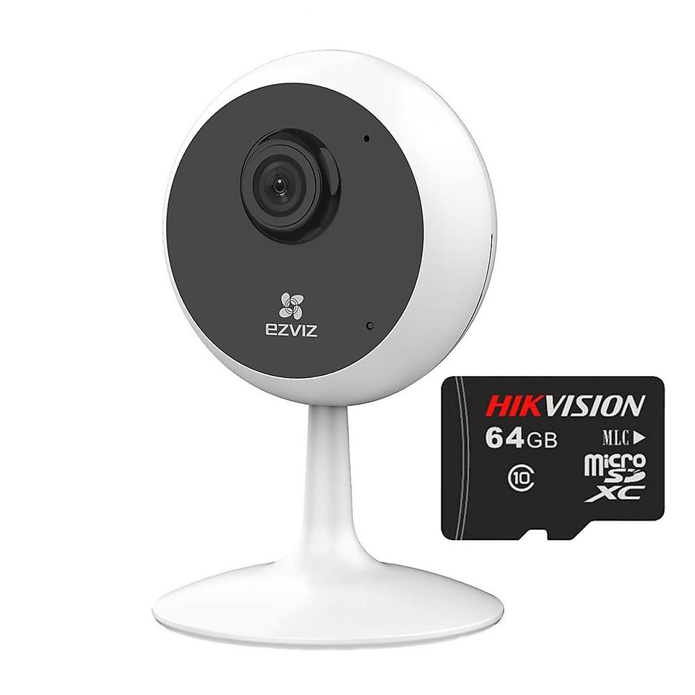 So Sánh Giá Trọn Bộ Camera Ip Wifi Ezviz Cube C1C Full HD 1080P Và Thẻ Nhớ HIKVISION 64GB - Hàng Chính Hãng