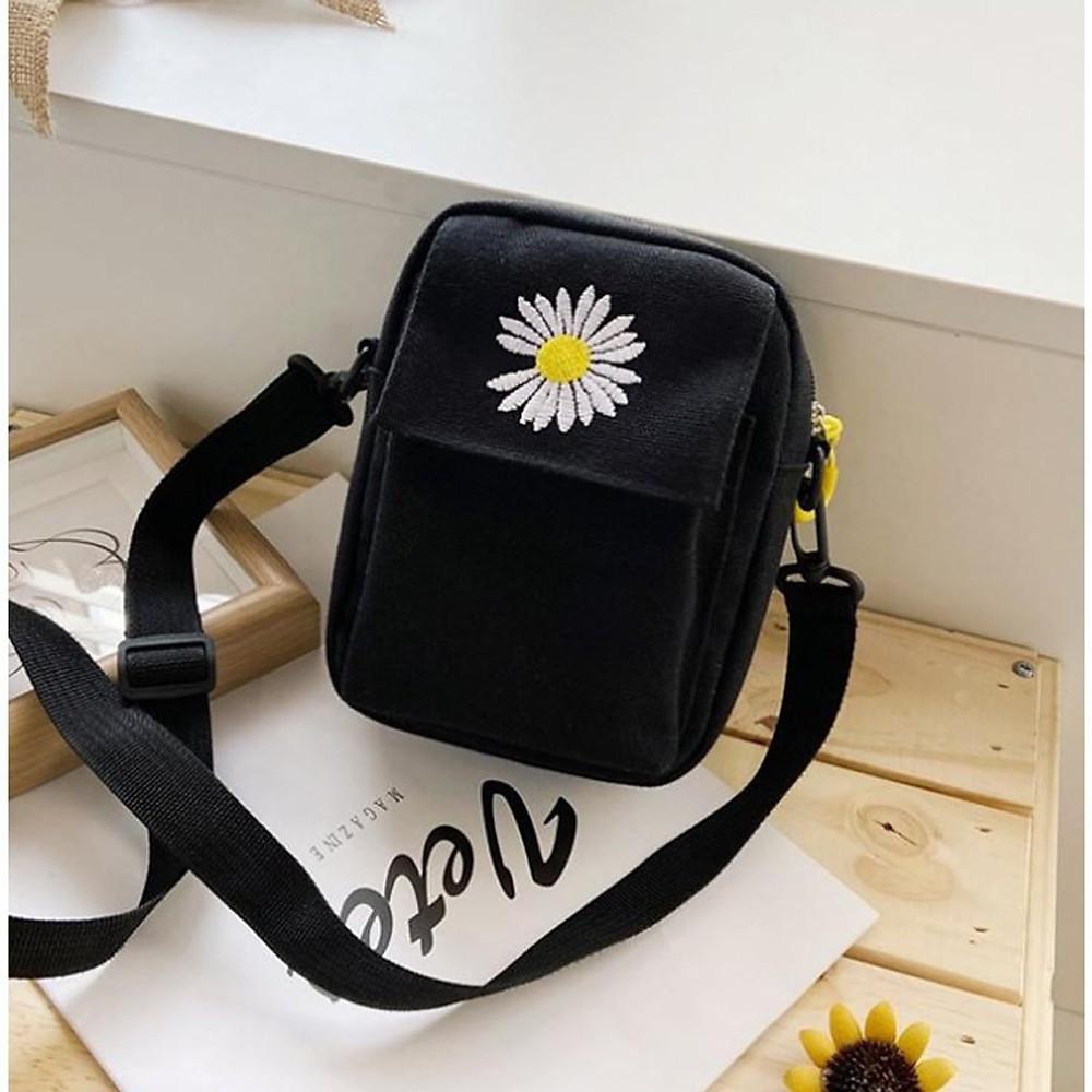 Review Túi tote, túi vải đựng điện thoại hoa cúc  TNX 426