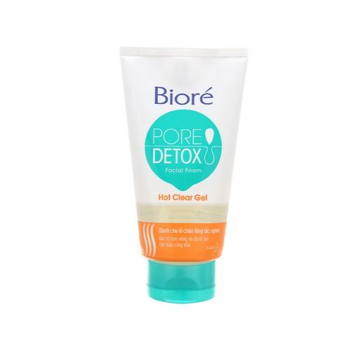 Review Sữa Rửa Mặt Bioré Pore Deotx Hot Clear Gel