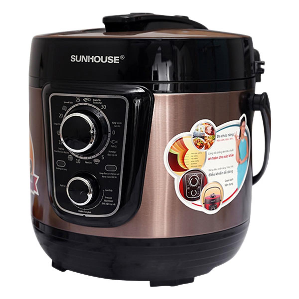 Đánh giá Nồi Áp Suất Sunhouse SHD1659 (5.0L) - Màu Cafe